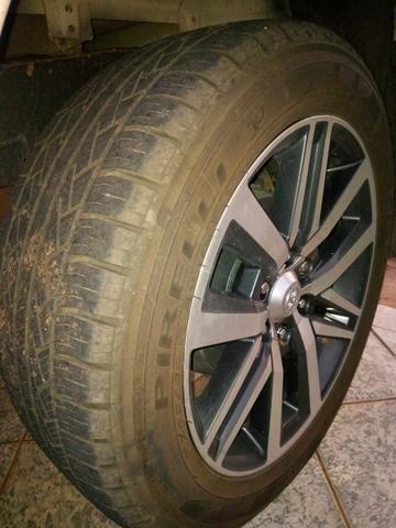 Rodas Toyota Hilux originais + pneus zeros - Foto 5