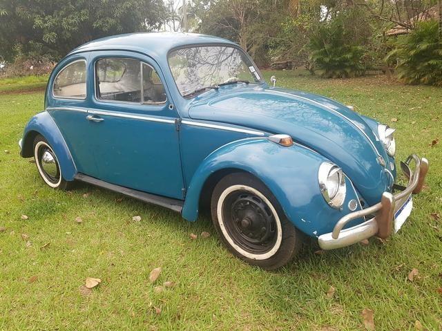 Fusca antigo 65 1965 azul relíquia - Foto 7
