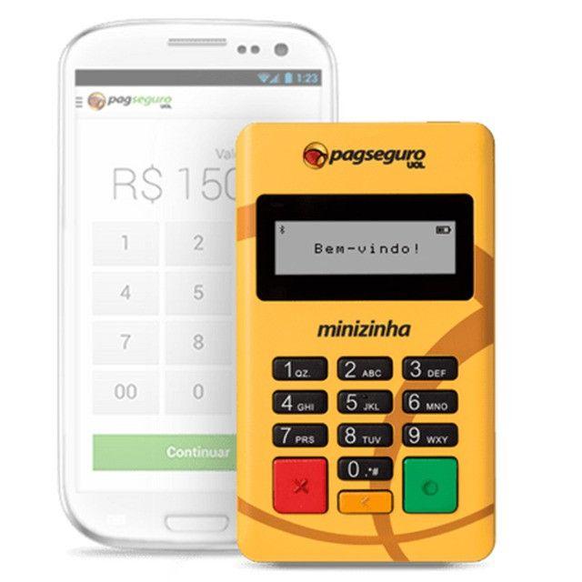 Minizinha PagSeguro Leitor de Cartão de Débito e Crédito Bluetooth - Foto 3
