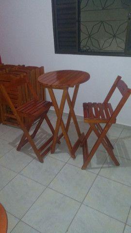 Bistrô dobrável com duas cadeiras - Foto 5