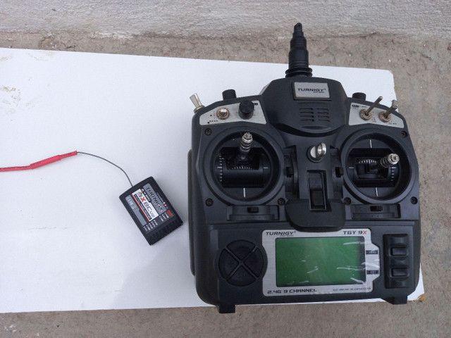 Helicóptero HK 450 + Rádio Turnigy 9X Original + Kit de Chaves Aling Trex Original - Foto 5