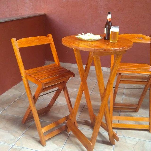 Bistrô dobrável com duas cadeiras - Foto 3