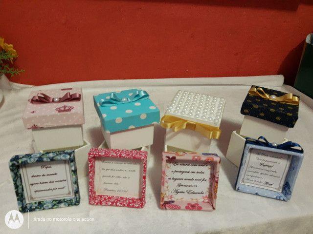 Caixa convite para padrinhos de Batizado/ lembrancinha - Foto 4