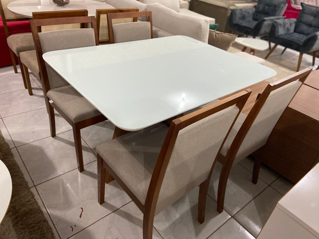 Mesa Santos completa pronta entrega de 4 cadeiras resistente de madeira maciça - Foto 3