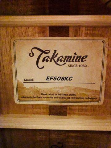 Violão Takamine Artístico EF 508 KC Japan C/ Case - Foto 6
