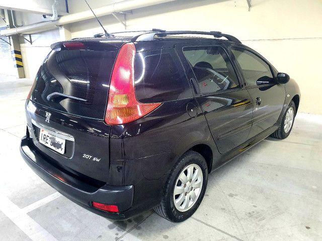 Peugeot 207 SW 1.4 XR Sport 2011, na cor Preto perla - Foto 6