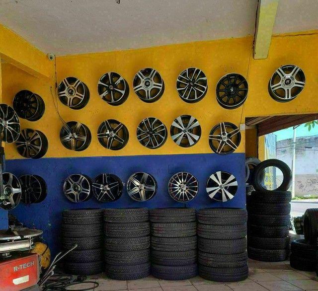 Pneus ligue Adriano pneus afogados tem  - Foto 2
