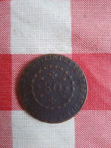 Moeda 80 Réis 1828