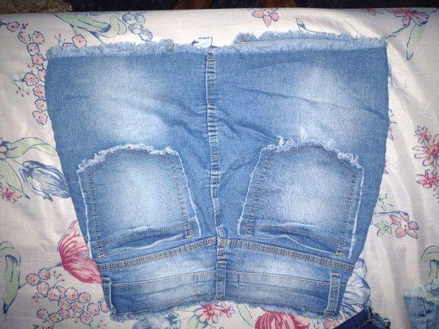Vendo short jeans e saia jeans