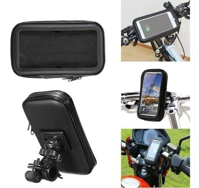 Suporte Celular Gps Moto Bike bicicleta - Foto 3