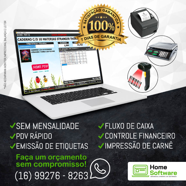 Sistema PDV Frente de Caixa, Financeiro, Entradas, Despesas, Completo - Marabá