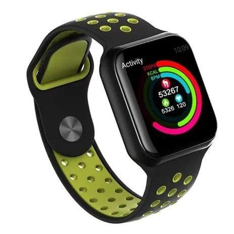 Relogio Smart Watch Bluetooth Android IOS (SH-F8) - Preto c/ Verde