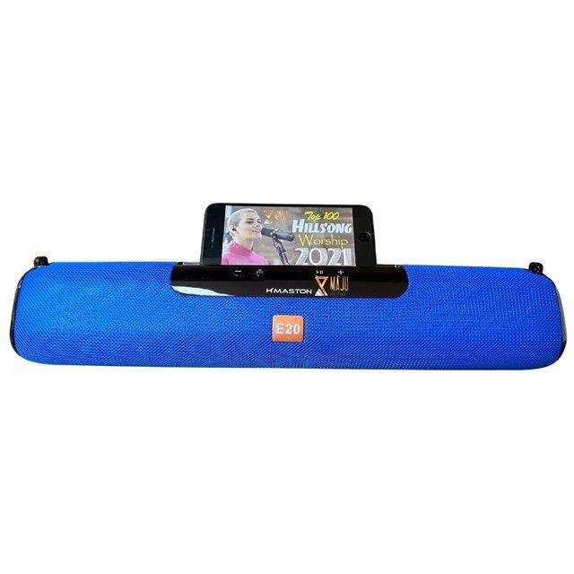 Caixa Som Alto Falante Hmaston E-20 Portátil Bluetooth  - Foto 6