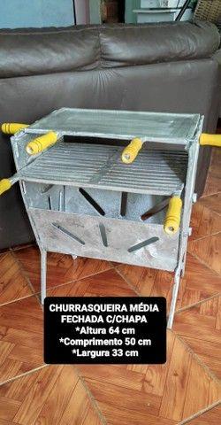 CHURRASQUEIRA DESMONTÁVEIS VARIADOS TAMANHOS E NOS MODELOS ABERTO OU FECHADO - Foto 2