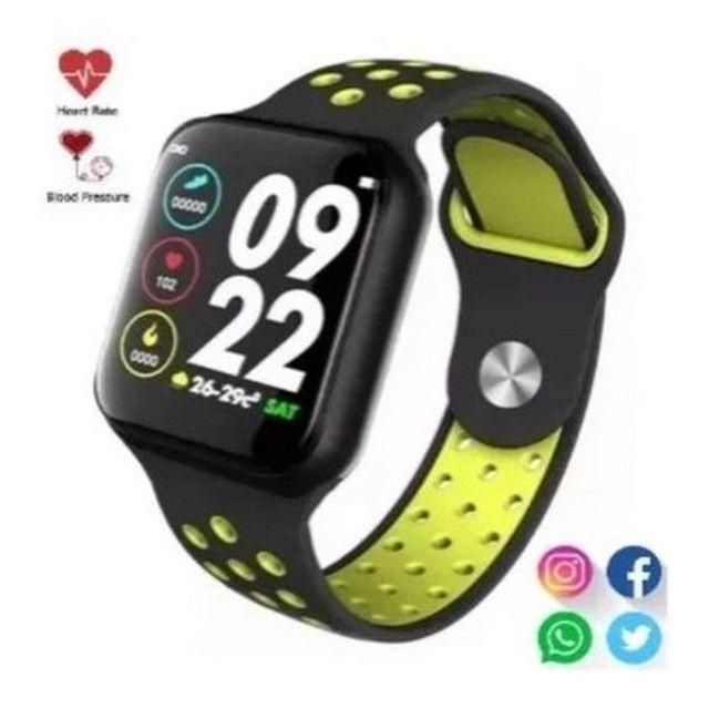 Relogio Smart Watch Bluetooth Android IOS (SH-F8) - Preto c/ Verde - Foto 2