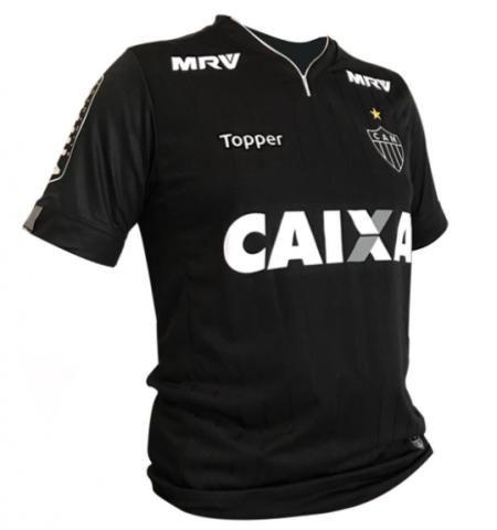 Camisa baby look atletico mg preta 2018 topper