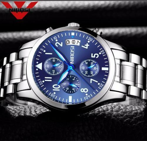 0a78cd12fc8 Nibosi Relógio de Quartzo dos homens Top Relógios de Luxo Relogio masculino