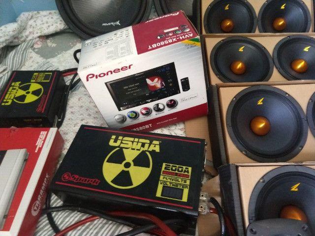 Som automotivo Zetta, Power vox, Jbl, Sound Digital (Leia Descrição)
