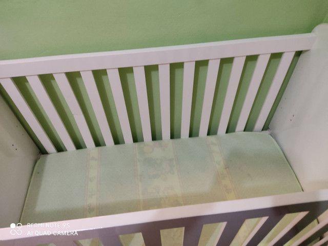 Berço 3 em 1com colchão e protetor impermeável fibrasca - Foto 3