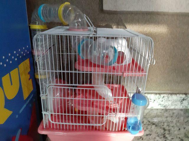 Gaiola pra hamster  nova completa - Foto 2