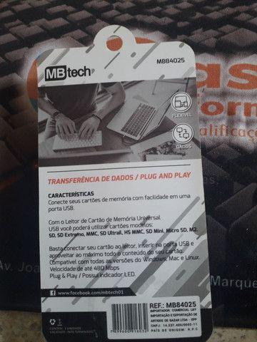 Leitor de cartão de memória modelo pendrive  - Foto 2