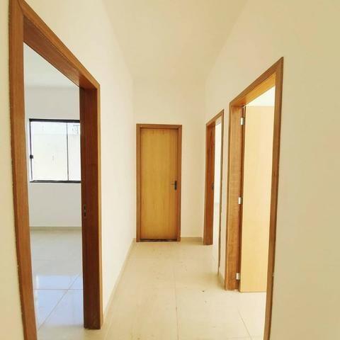 Casa tres quartos no residencial morada do bosque em senador canedo - Foto 2