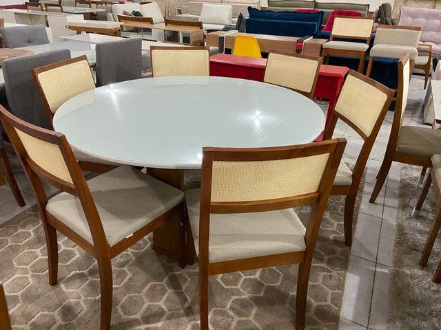 Mesa redonda de jantar de 6 lugares completa - Foto 4