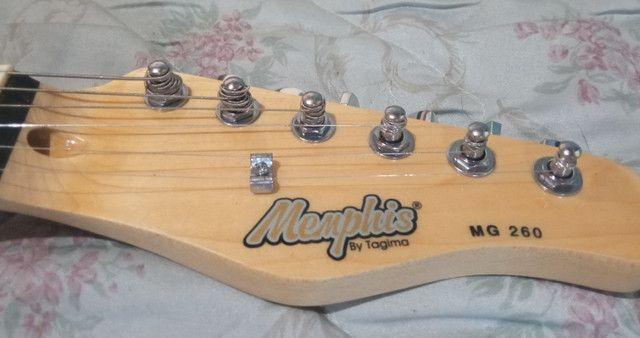 Guitarra Menphis By Tagima MG 260 Sunburst + Case ESP - Foto 3