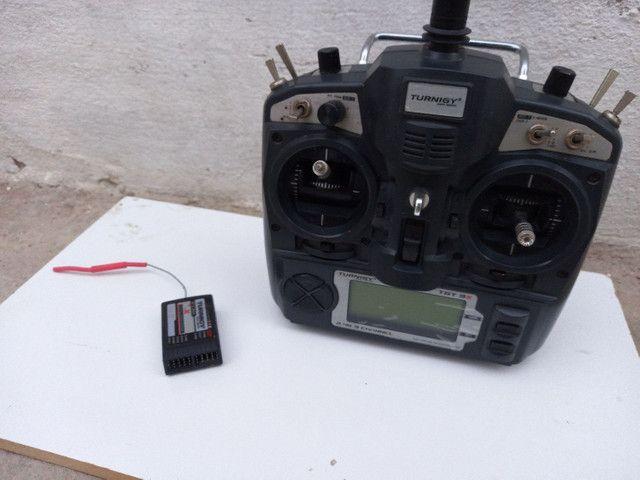 Helicóptero HK 450 + Rádio Turnigy 9X Original + Kit de Chaves Aling Trex Original - Foto 6