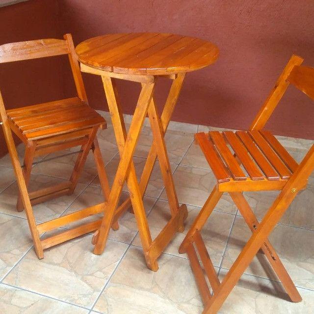 Bistrô dobrável com duas cadeiras - Foto 2