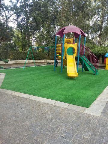 Grama Sintética Decorativa Ideal Grass 12mm - Verde - Foto 6