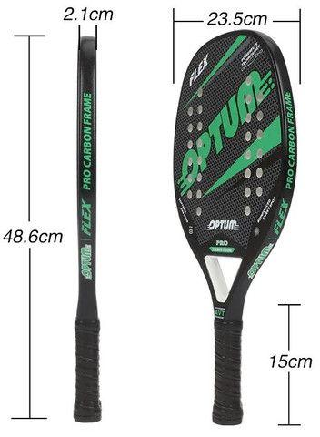 Raquete De Beach Tennis Optum Pro Flex 2020 - Carbon Frame - Preto e Laranja - Foto 6
