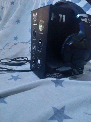 HEADSET GAMER PARA CELULAR E PC COM LED  - Foto 2