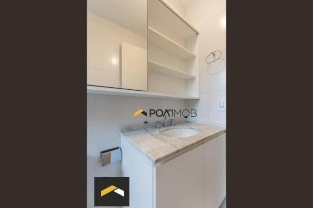 Apartamento com 3 dormitórios para alugar, 96 m² por R$ 3.600,00/mês - Petrópolis - Porto  - Foto 19