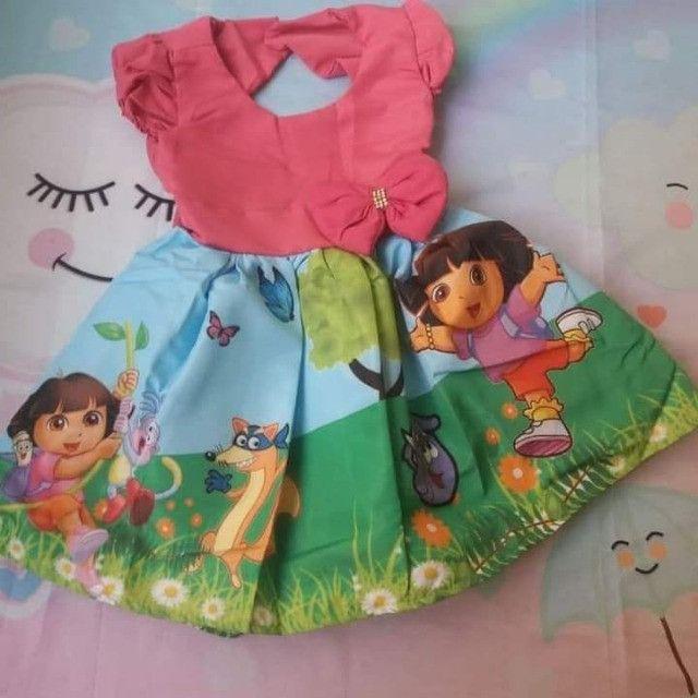 Vestido Dora aventureira Vários Tamanhos