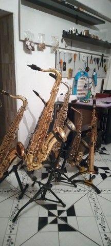 Ssx alto, saxofone tenor e sopram