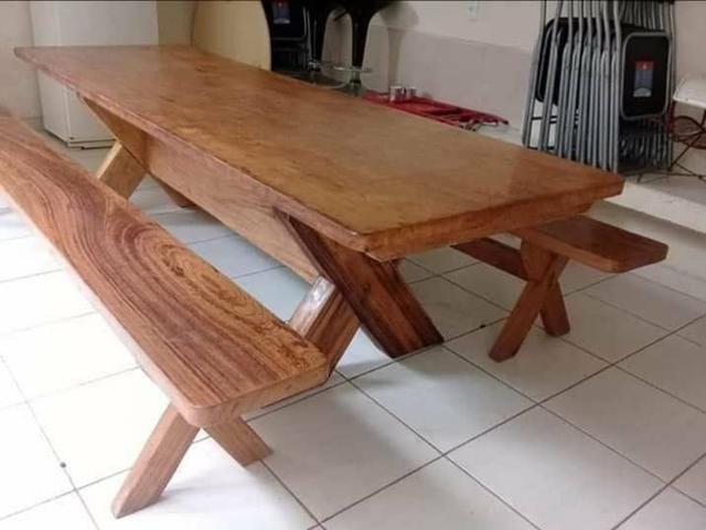 NK Móveis rústicos mesas de madeira maciça PRANCHA ÚNICA fazemos entrega
