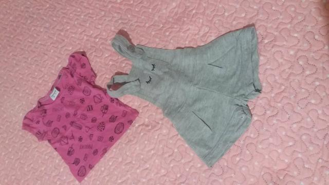 Roupas de menina M/ G 1ano / calçados tbm - Foto 4