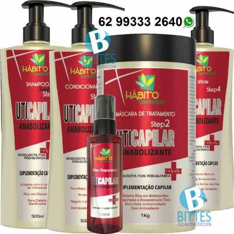Kit Tratamento Pós Química Completo com óleo reparador