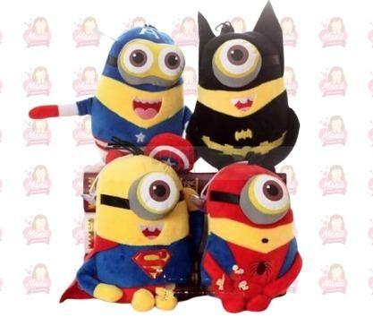 Minions Heróis Pelúcia com 4 personagens