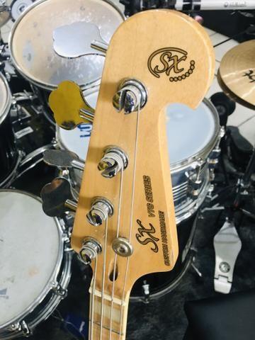 Baixo 4 Cordas Jazz Bass Series Sjb75 Sx Sunburst - Foto 3