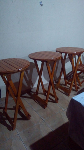 Bistrô dobrável com duas cadeiras - Foto 6