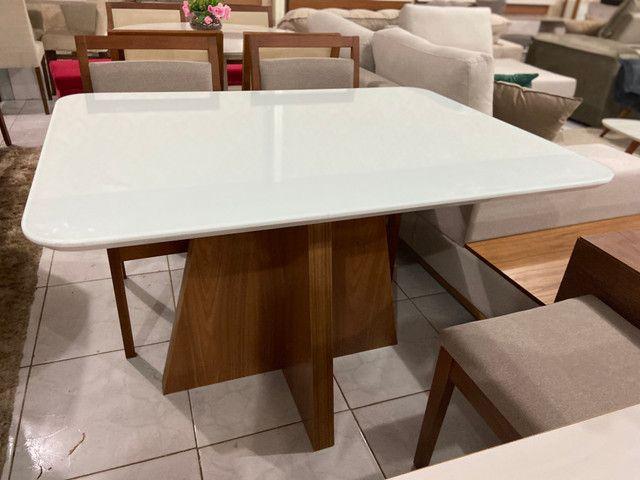 Mesa Santos completa pronta entrega de 4 cadeiras resistente de madeira maciça - Foto 2