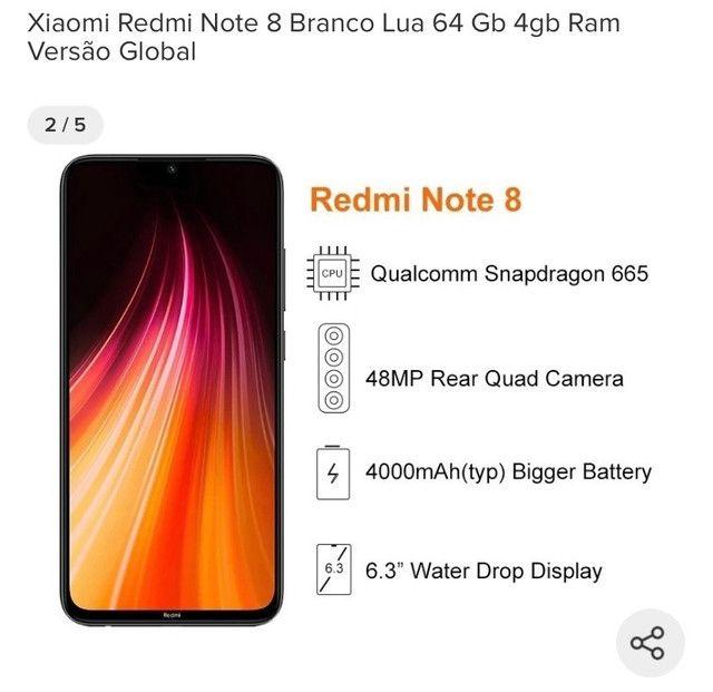 Xiaomi note 8 64gb novo lacrado - Foto 4