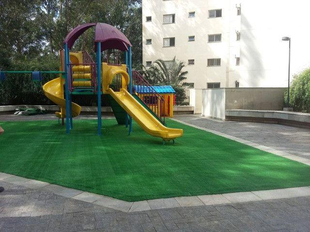 Grama Sintética Decorativa Ideal Grass 12mm - Verde - Foto 5