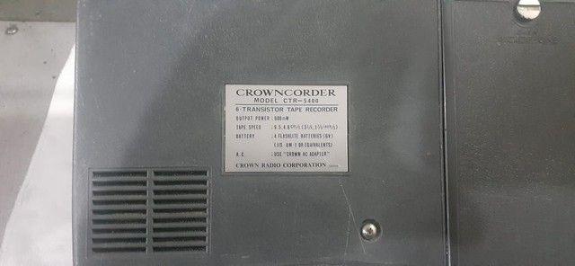 Gravador antigo  Crowncorder - Foto 4