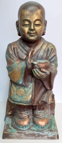 Estatueta Monge budista- Jardim externo - Foto 6