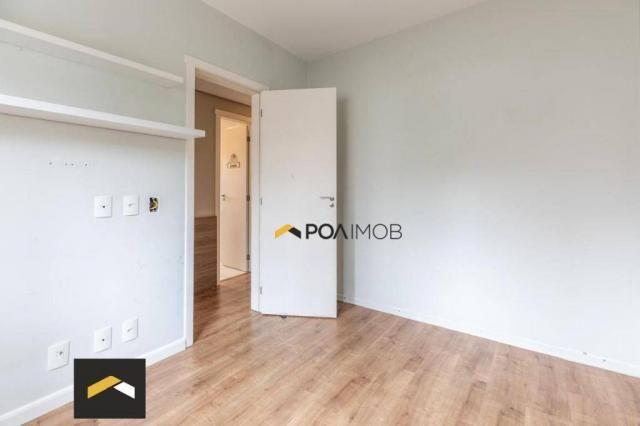 Apartamento com 3 dormitórios para alugar, 96 m² por R$ 3.600,00/mês - Petrópolis - Porto  - Foto 12