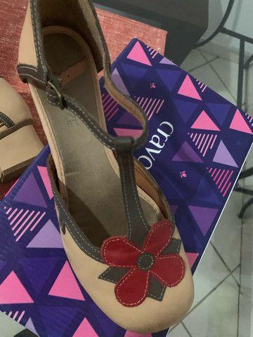 Maravilhoso sapato da linha conforto zambeze número 37 - Foto 5