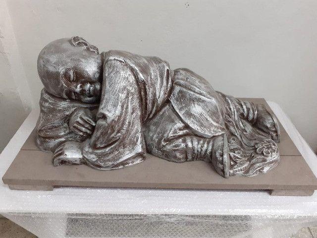 Estatueta Monge budista- Jardim externo - Foto 2